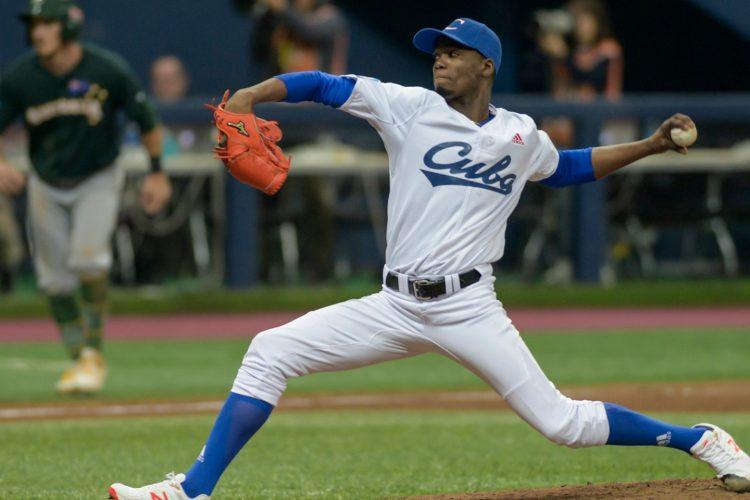 El lanzador cubano Liván Moinelo. Foto: WBSC / Archivo.