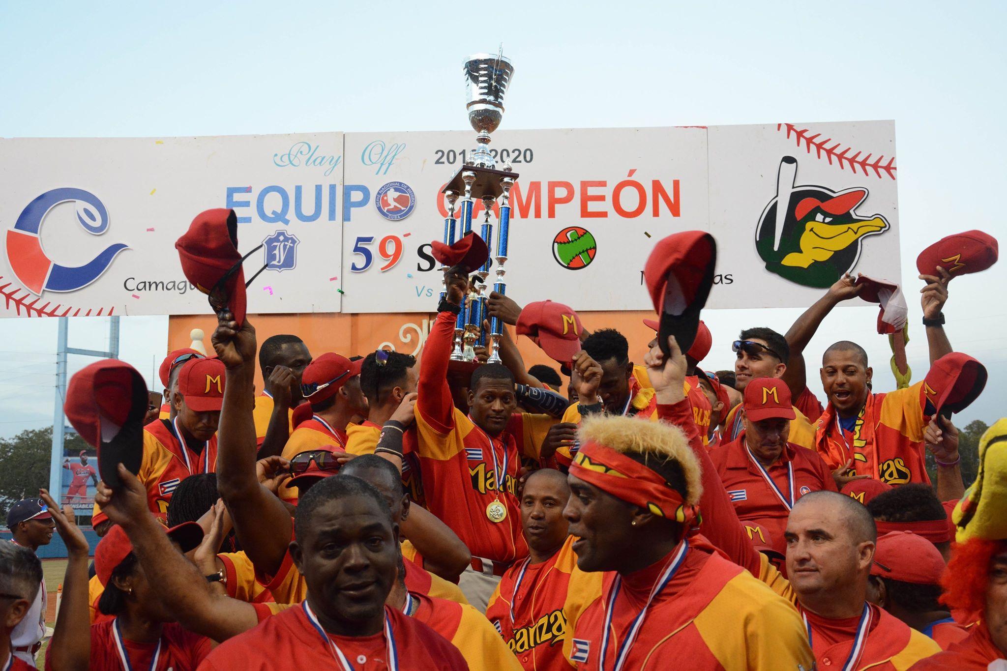 Los Cocodrilos de Matanzas, merecidos campeones de la pelota cubana. Foto: Gabriel García.