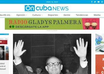 Portada de OnCuba News la mañana del domingo 19 de enero de 2020. Foto: Captura de pantalla.