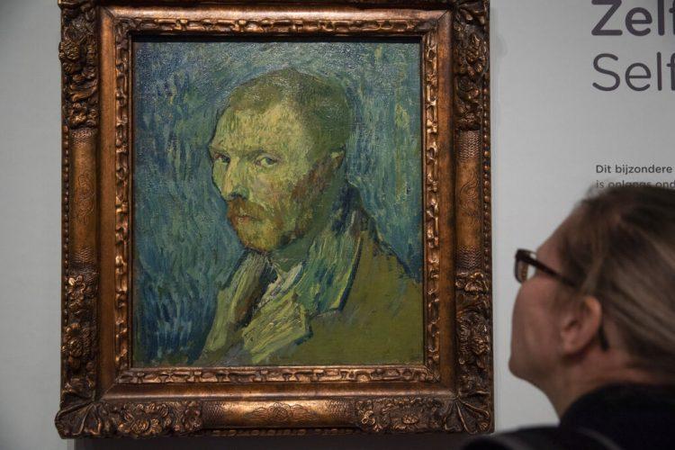 El autorretrato de Van Gogh cuya autenticidad fue confirmada por expertos el 20 de enero del 2020. Foto: Peter Dejong / AP.