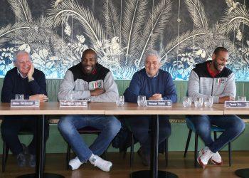 Simón y Leal fueron presentados ante la prensa y la afición italiana tras renovar sus contratos con el Lube Civitanova. Foto: Tomada de Corriere dello Sport.