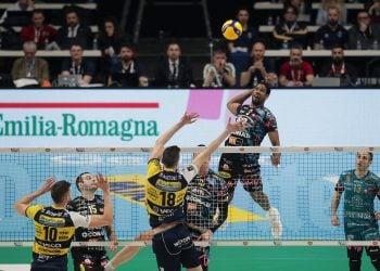 Wilfredo León lideró al Perugia en al semifinales de la Copa Italia. Foto: Lega Pallavolo.