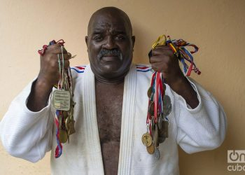 El laureado judoca cubano Jorge Fiss. Foto: Otmaro Rodríguez.