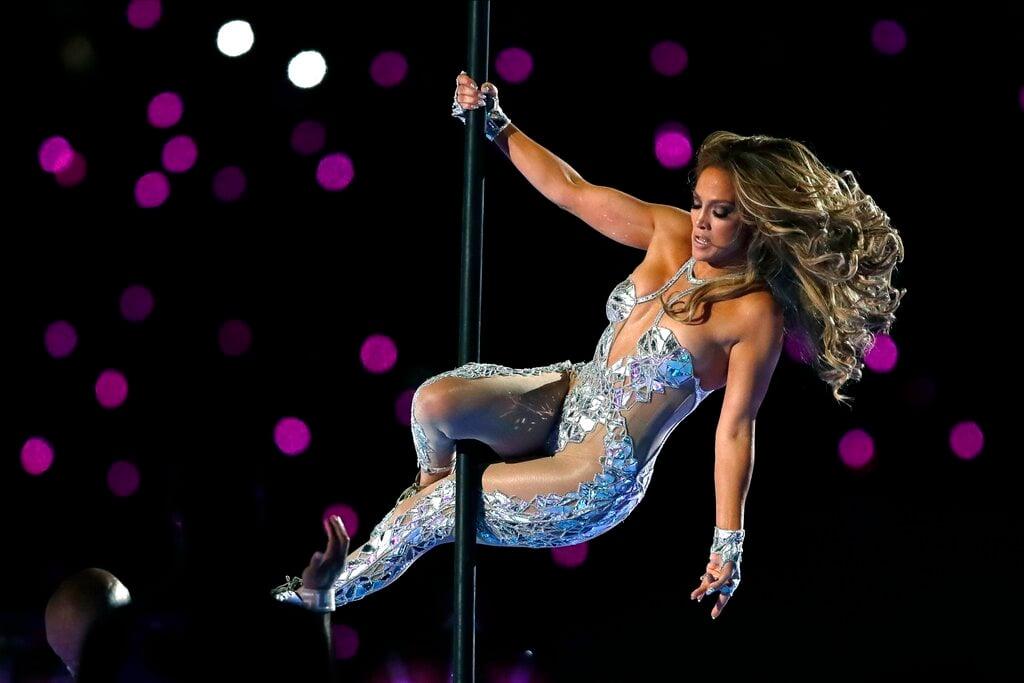 Jennifer López en Super Bowl. Foto: Chris O'Meara/AP.