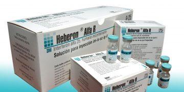 El antiviral Interferón alfa 2B recombinante, un producto líder de la biotecnología de Cuba. Foto: pinterest.com/cigbcuba/