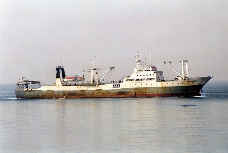 """Motopesquero """"Río Jatibonico"""" de la Flota Cubana de Pesca."""