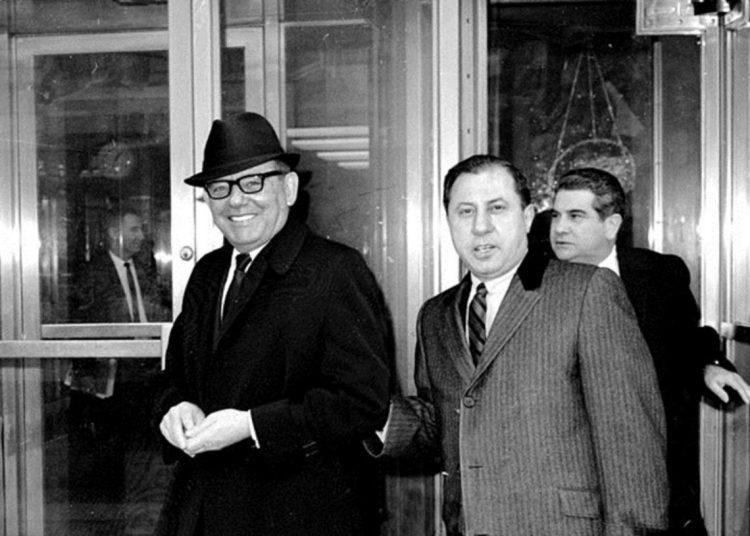 Santo Trafficante Jr. (izquierda) y su abogado Frank Ragano en la ciudad de Nueva York. Foto: Archivo.