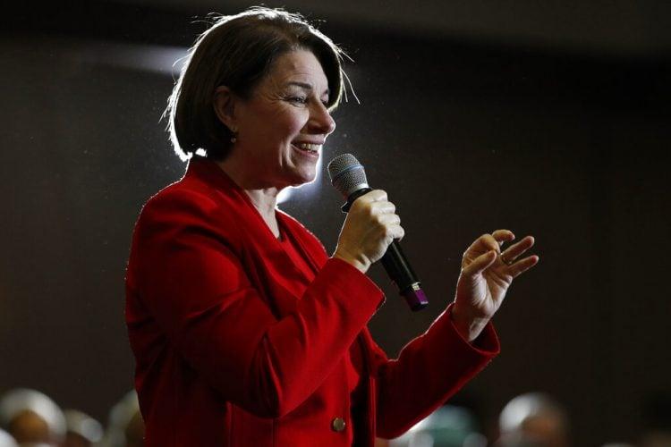 Amy Klobuchar en un evento en Portland, Maine el 29 de febrero del 2020. Foto: AP/ Robert F. Bukaty