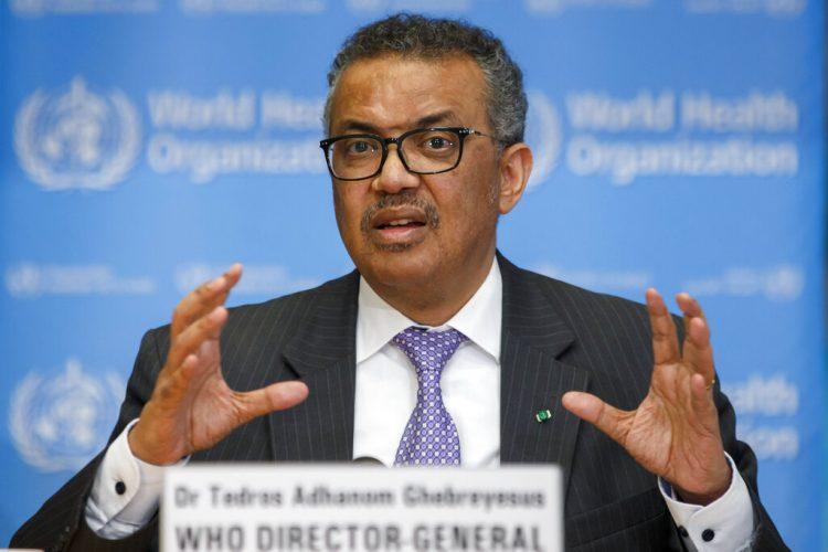 Tedros Adhanom Ghebreyesus, director general de la Organización Mundial de la Salud,. Foto: Salvatore Di Nolfi/Keystone via AP.