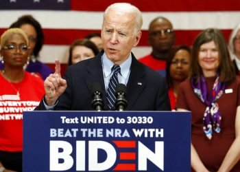 El precandidato demócrata a la presidencia Joe Biden habla durante un evento de campaña en Columbus, Ohio, el martes 10 de marzo de 2020. Foto: Paul Vernon/AP.