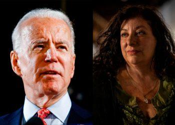 Joe Biden y Tara Reade. Fotomontaje.