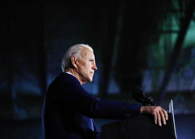 En esta foto del 29 de febrero del 2020, el candidato presidencial demócrata Joe Biden habla en un acto de campaña en Columbia, Carolina del Sur. Foto: Matt Rourke/AP.