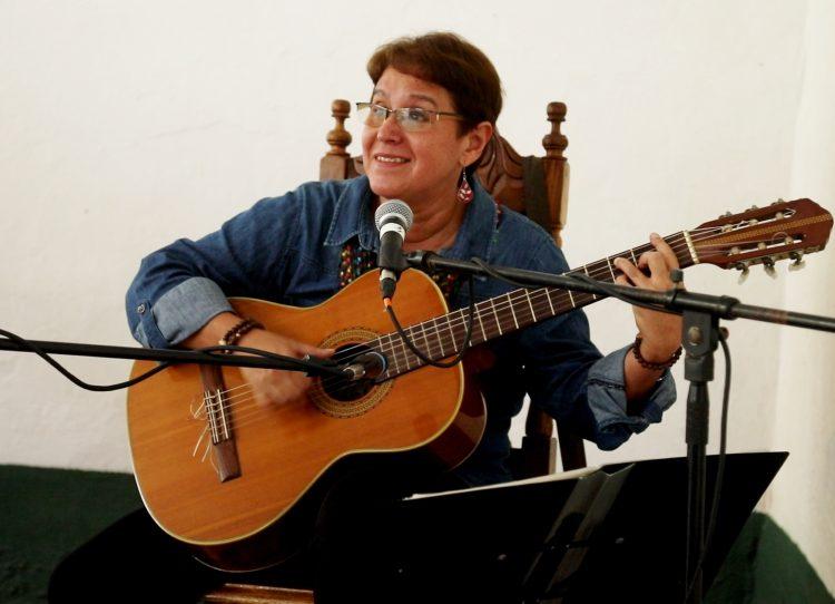 Rita del Prado durante el proyecto Habaneros del Prado en 2019. Foto: cortesía de la artista