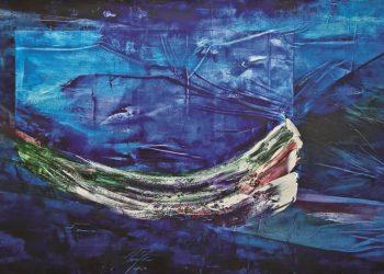 Bermeja vastedad, 2010 / Óleo sobre lienzo / 126 x 200 cm