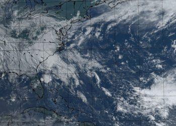 Imagen de satélite de la tormenta tropical Bertha. Foto: @cnp_insmet_cuba.