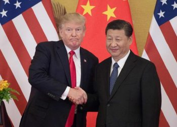 Encuentro entre Trump y Xi Jinping en septiembre de 2017 Foto: NICOLAS ASFOURI/AFP, vía:  La vanguardia.