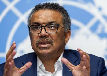 Tedros Adhanom Ghebreyesus, director general de la Organización Mundial de la Salud, habla desde la sede europea de las Naciones Unidas en Ginebra. Foto: Martial Trezzini/Keystone via AP/ archivo.