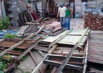 Daños ocasionados por una tormenta local severa en Camagüey. Foto: adelante.cu