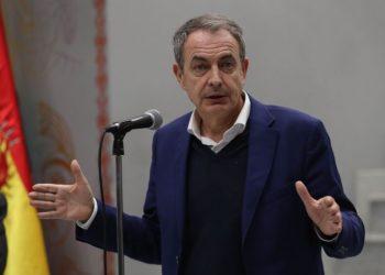 Zapatero participó en la conferencia online junto a otros líderes latinoamericanos. Foto: EFE