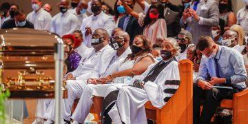 Funeral de George Floyd en Houston, Texas, el 9 de junio de 2020. Foto: Godofredo A. Vasquez / EFE / Pool.