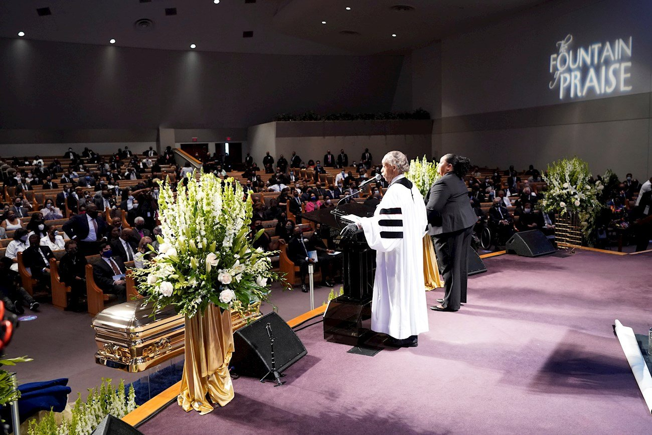 Funeral de George Floyd en Houston, Texas, el 9 de junio de 2020. Foto: David J. Phillip / EFE / Pool.
