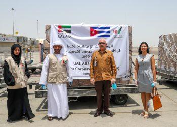 El embajador cubano en Emiratos Árabes Unidos, Roberto Blanco, agradeció la ayuda solidaria. Foto: elcorreo.ae