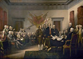 """""""Declaración de Independencia"""" (1817), cuadro del pintor John Trumbull (1756-1843). Foto: Archivo."""