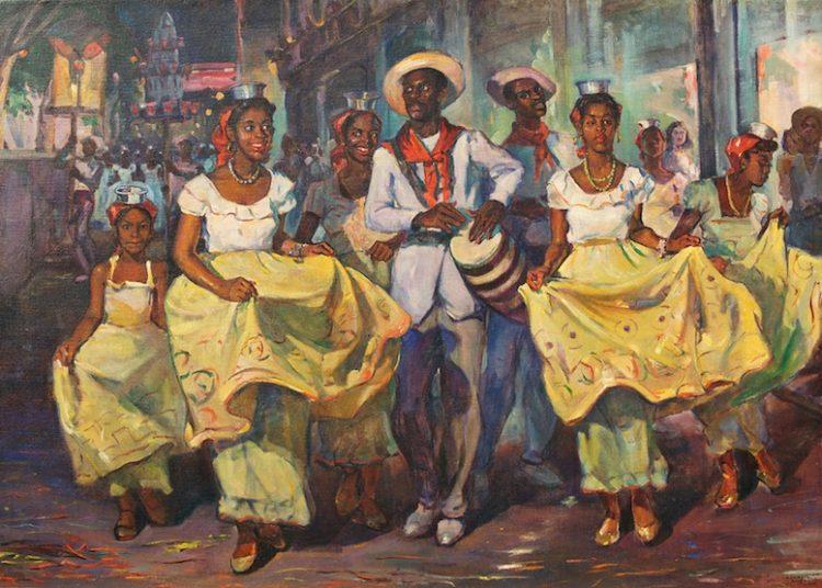 """Comparsa"" de Oscar García Rivera (1940). Foto: Cubaposible"