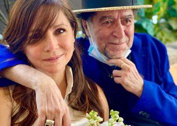 Joaquín Sabina y Jimena Coronado, el lunes 29, en Madrid. Foto www.hola.com