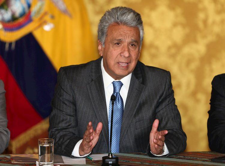 El presidente de Ecuador, Lenín Moreno. Foto: José Jácome/EFE, archivo