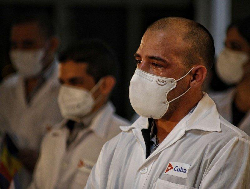 Brigada médica cubana que combatió la pandemia en Andorra. Foto: acn.cu