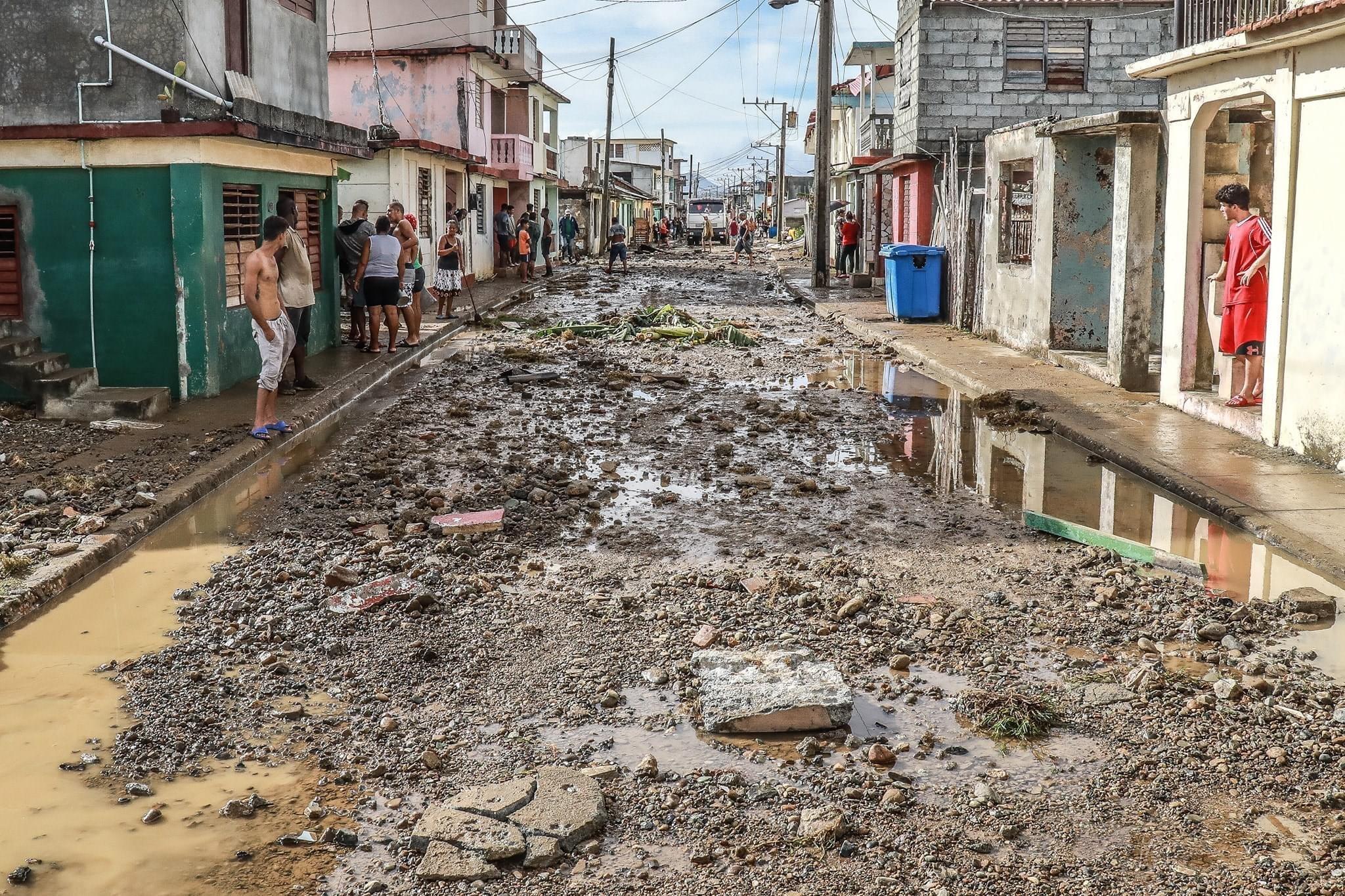 Daños causados por el huracán Isaías en Baracoa. Foto: Rubén Aja / Facebook.