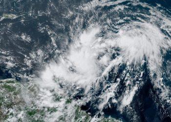 Imagen de satélite de la depresión tropical numero nueve de 2020. Foto: weather.gov/Facebook.