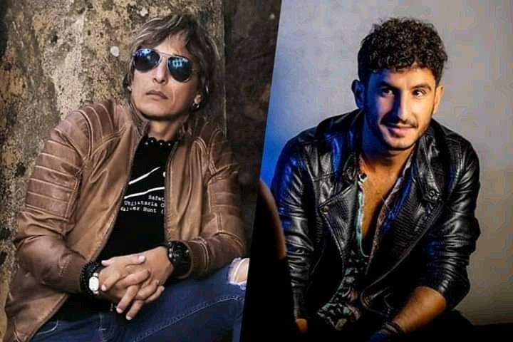 El músico cubano Jorge Luis Robaina (i), director del grupo Karamba, y el español Carlos Torres (d), finalista del concurso La Voz España en 2016. Foto: Jorge Luis Robaina / Facebook.