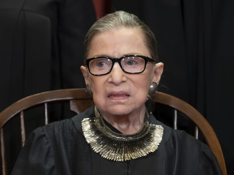 La jueza Ruth Bader Ginsburg. Foto: J. Scott Applewhite/AP.