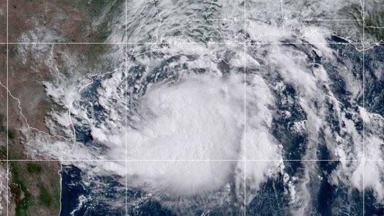 La tormenta tropical Hanna cerca de Texas. Foto: NHC.
