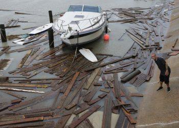 Daños causados por el huracán Hanna, el domingo 26 de julio de 2020, en Corpus Christi, Texas. Foto: AP/Eric Gay/Archivo.