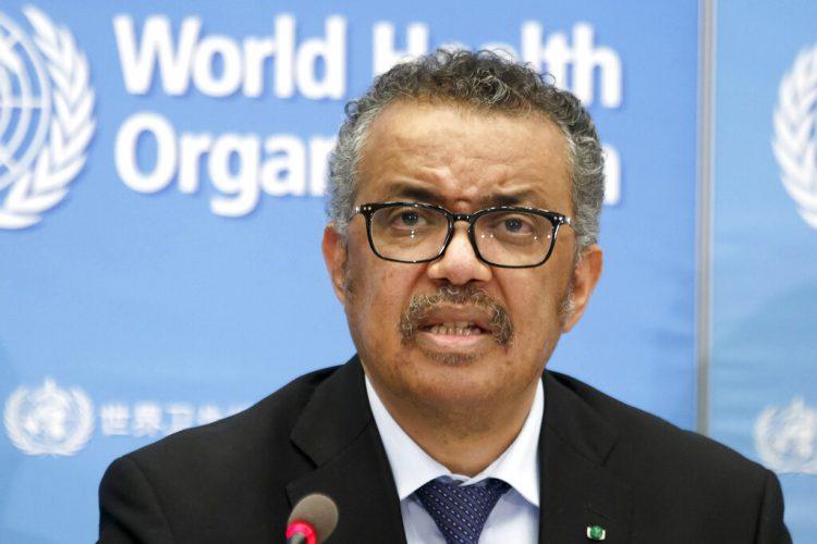 Tedros Adhanom Ghebreyesus, director general de la Organización Mundial de la Salud (OMS) atiende una conferencia de prensa sobre el COVID-19 en la sede de la OMS en Ginebra, Suiza, el 24 de febrero de 2020. Foto: Salvatore Di Nolfi/Keystone vía AP.