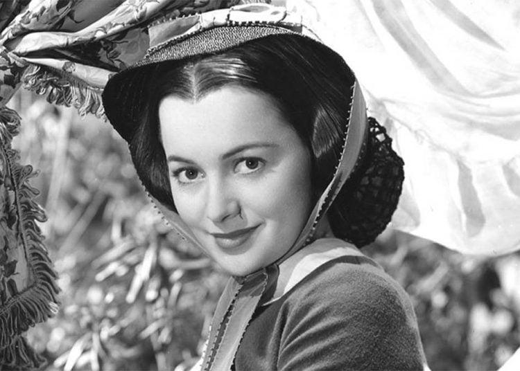 """La actriz Olivia de Havilland (1916-2020) en el filme """"Lo que el viento se llevó"""". Foto; Archivo."""