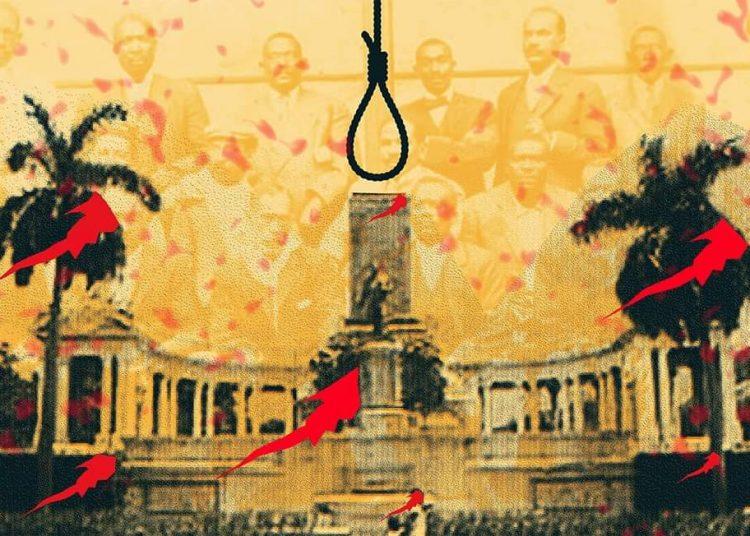 """Evaristo Estenoz: """"… ha sonado la hora de la redención definitiva para todos: para redimir a los unos de sus crímenes y de su salvaje egoísmo y a nosotros de la humillación en que vivimos por amar a la República y por temor de inferirle agravios a la patria."""" Ilustración de Iván Alejandro Batista."""