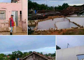Collage de imágenes tomadas tras el tornado en San Nicolás. Foto: Prensa Latina.