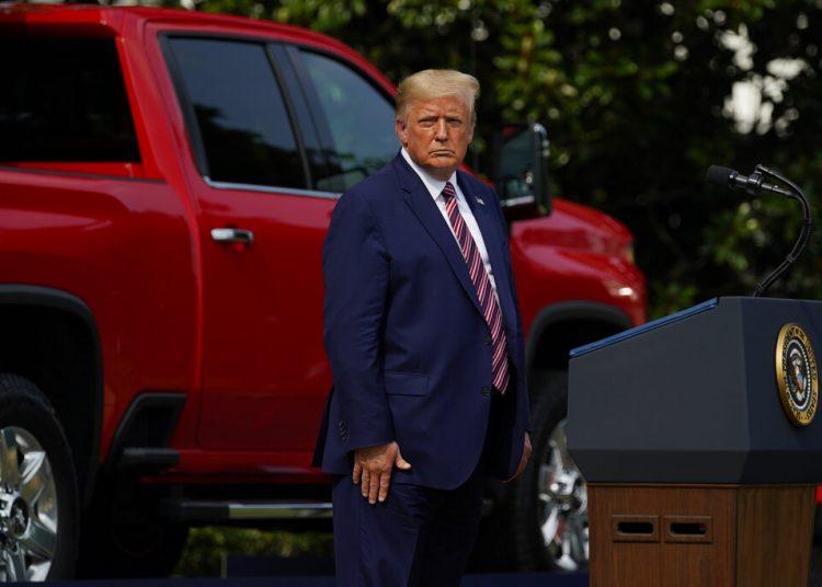 El presidente Donald Trump en un evento en la Casa Blanca en Washington el 16 de julio del 2020. Foto: AP/Evan Vucci.