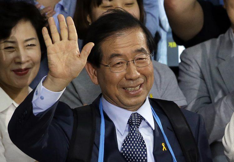 Las autoridades buscaban a Park Won-soon el jueves 9 de julio de 2020 después de que su hija reportara su desaparición, según fuentes policiales. Foto: Lee Jin-man/ AP/Archivo.
