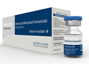 El fármaco cubano Itolizumab utilizado en el tratamiento de la COVID-19. Foto: Cortesía del CIM / Cubadebate.