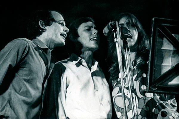 Silvio, Noel y Sara, tres exponentes de la Nueva Trova cubana. Foto: La Jiribilla.