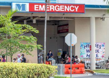 El respiro del descenso de las muertes en Florida duró poco. Los hospitales han vuelto a llenarse con los nuevos casos de contaminación descubiertos con el aumento de las pruebas. Foto: Cristóbal Herrera/EFE.