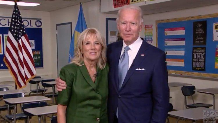 El candidato demócrata a la presidencia de Estados Unidos, Joe Biden, y su esposa Jill. Foto: CNN.