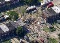 La escena tras la explosión de gas en Baltimore, el 10 de agosto del 2020. Foto: AP.