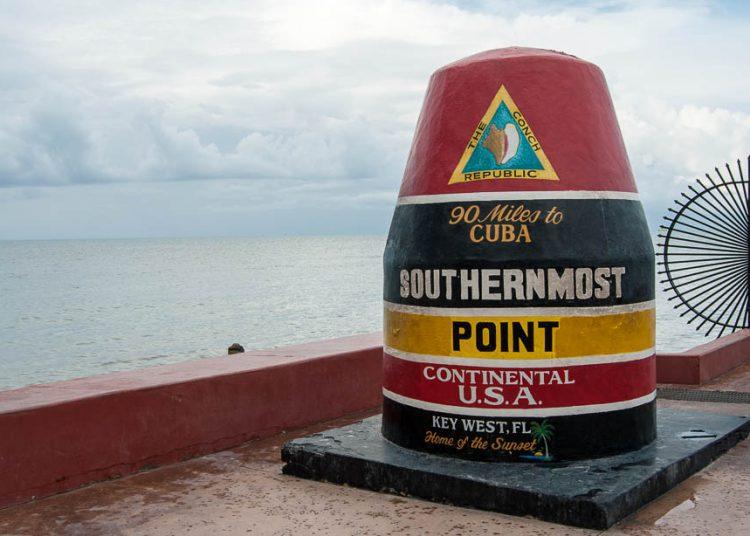 Key West, el punto más al sur de Estados Unidos, a 90 millas de Cuba. Foto: Travel Guide.