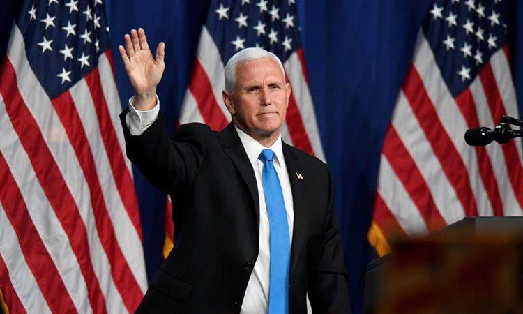 El vicepresidente Mike Pence durante la tercera noche de la Convención Nacional Republicana, Foto: Al Jazeera.
